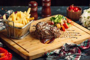 beef steak chips